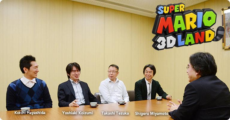 Koichi Hayashida, Yoshiaki Koizumi, Takashi Tezuka y Shigeru Miyamoto en 'Iwata pregunta'