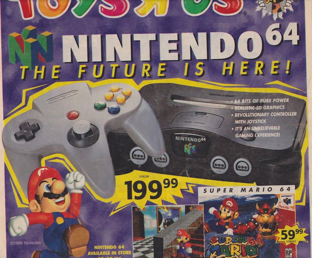 Anuncio comercial de Nintendo 64