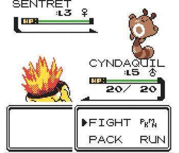 Cyndaquil contra Sentret