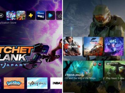 UI PlayStation 5 y Xbox Series X