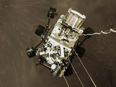 Imagen: Descenso del rover Perseverance