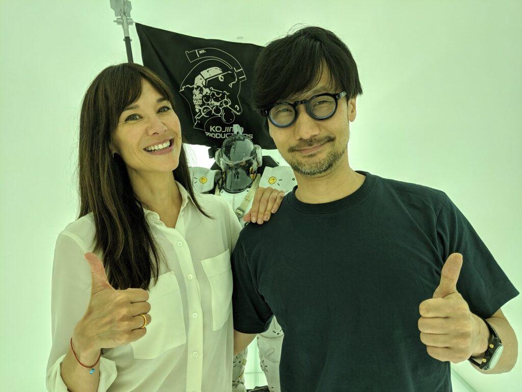Ex-vicepresidenta de Google Stadia, Jade Raymond, en su visita a Kojima Productions el pasado julio de 2019