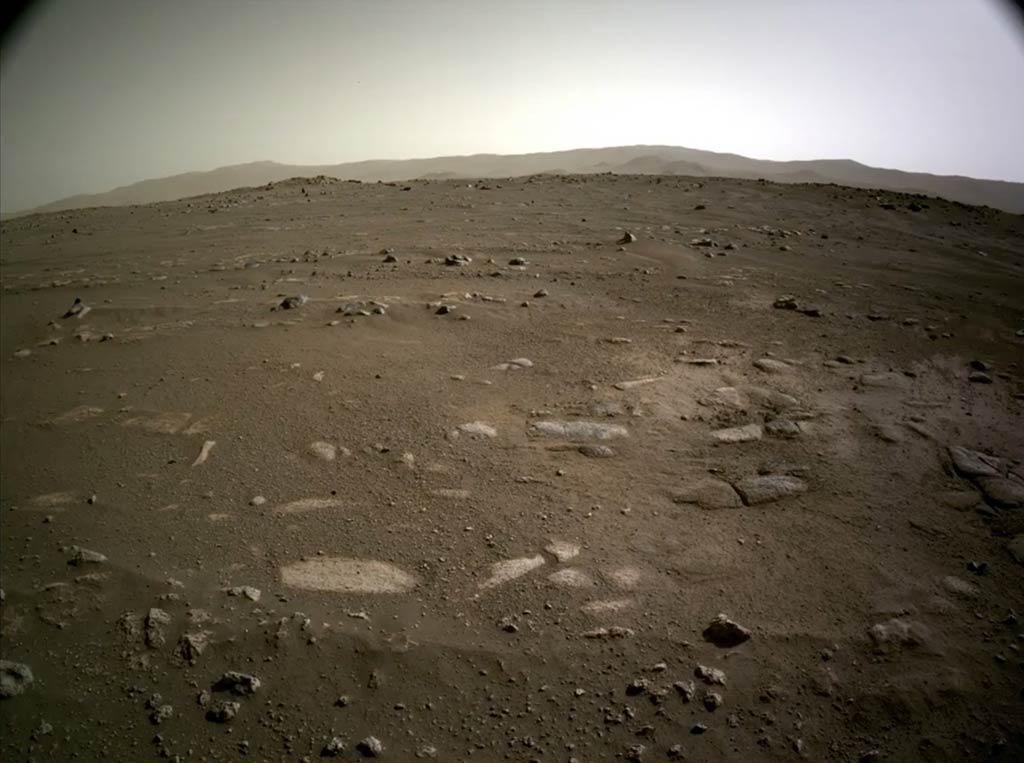 La zona de descenso del rover Perseverance. (NASA/JPL-Caltech)