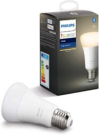 Philips Hue Bombilla Inteligente LED E27, con Bluetooth, Luz Blanca Cálida, Compatible con Alexa y Google Home (Clase de eficiencia energética A+)