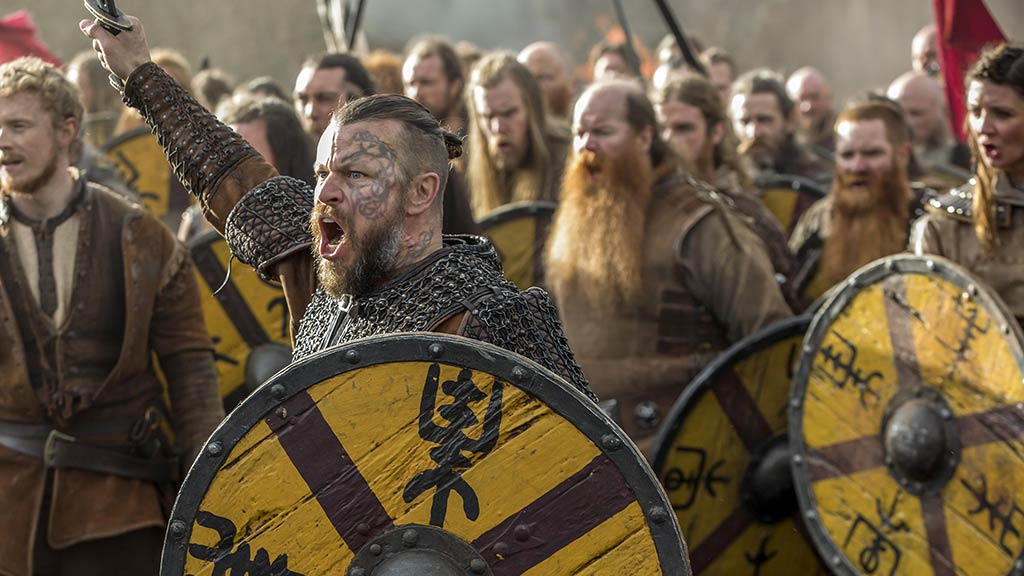 Harald Finehair, Vikingos