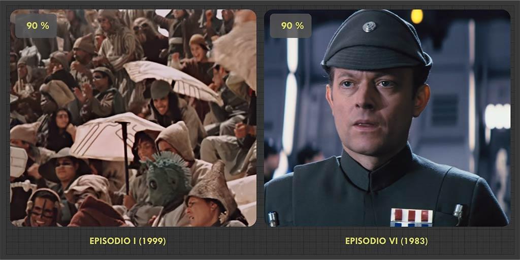 Comparación de 'El retorno del Jedi' y 'La amenaza fantasma'
