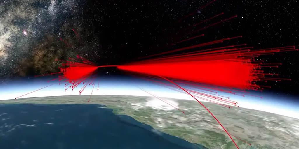 Simulación de un mísil antisatélites de la India
