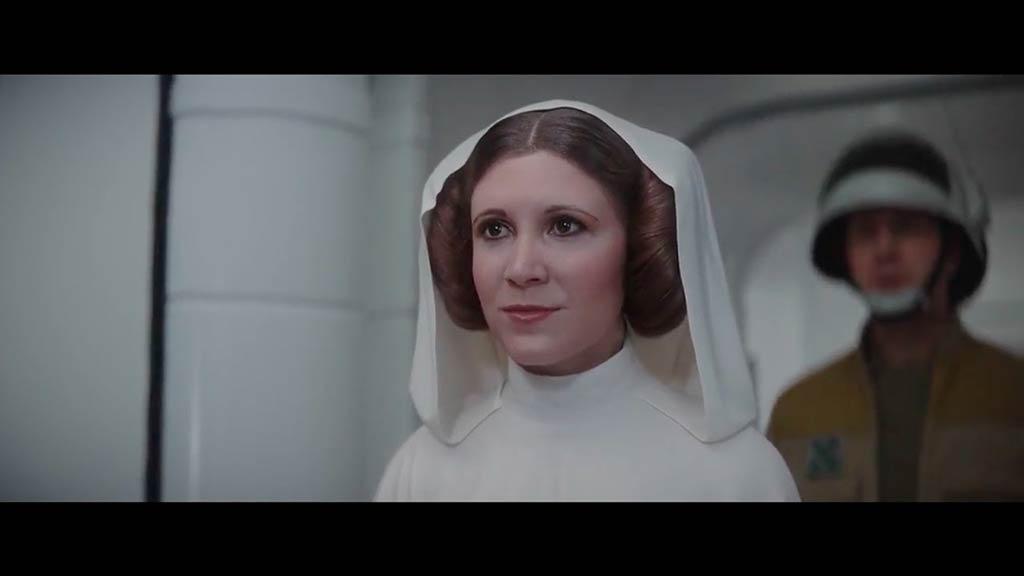 Princesia Leia en 'Rogue One' mediante tecnología digital