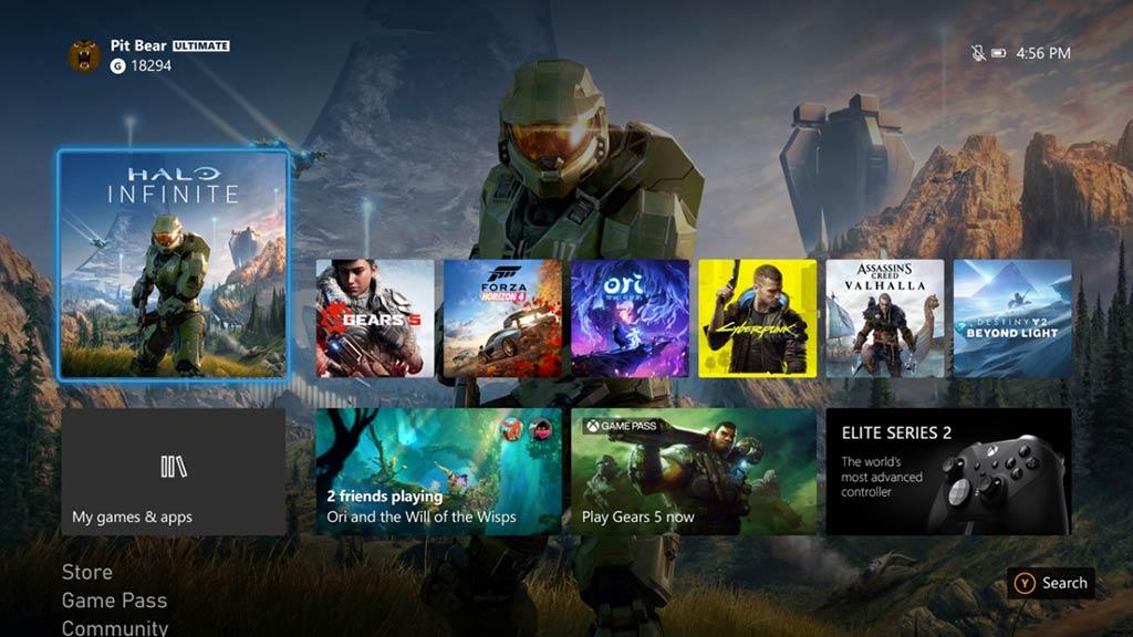 Pantalla Inicio Xbox