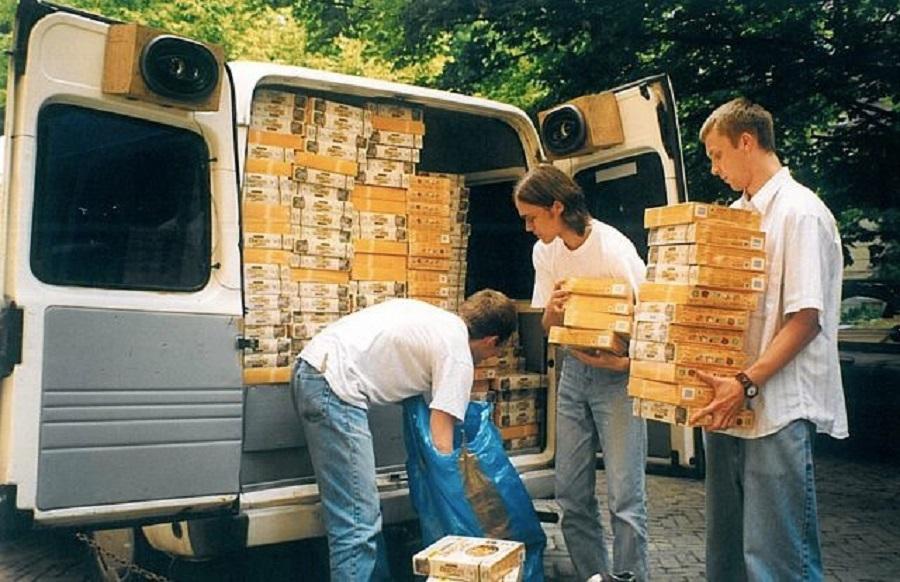 Los miembros de CD Projekt en su época como distribuidores 1996