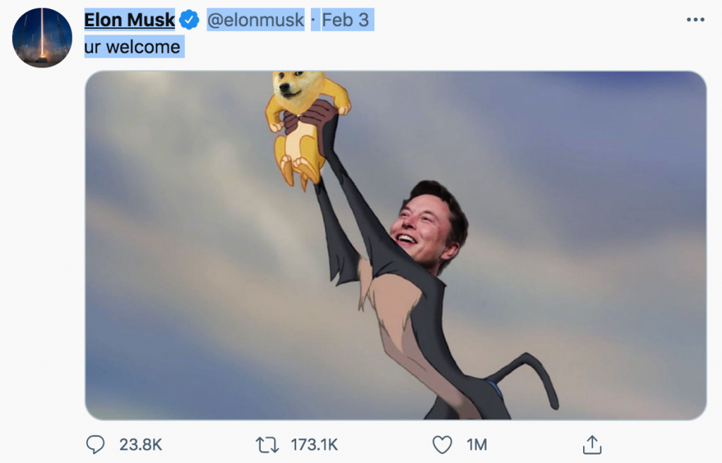 Tuit de Elon Musk