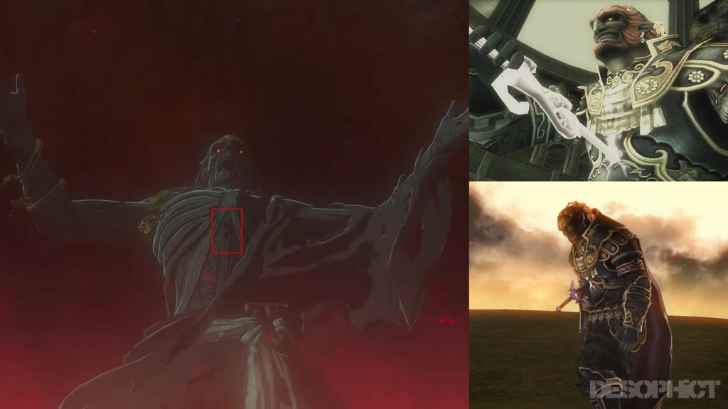 A la izquierda, Ganondorf en la secuela de 'Breath of the Wild', a la derecha, Ganondorf en 'Twilight Princess'