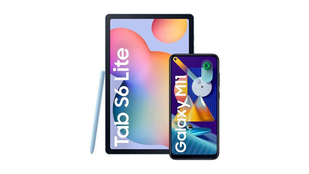 Samsung Galaxy Tab S6 Lite + Samsung Galaxy M11