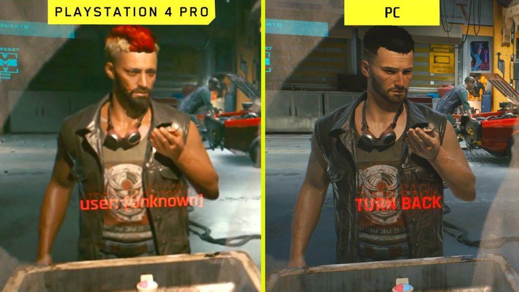 Comparativa de 'Cyberpunk 2077' entre PlayStation 4 y PC