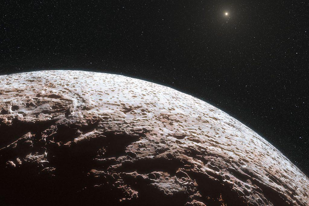 Representación de la superficie del planeta enano Makemake - ESO