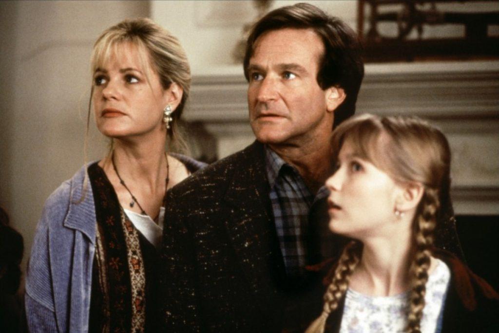 Bonnie Hunt, Robin Williams y Kirsten Dunst en 'Jumanji'
