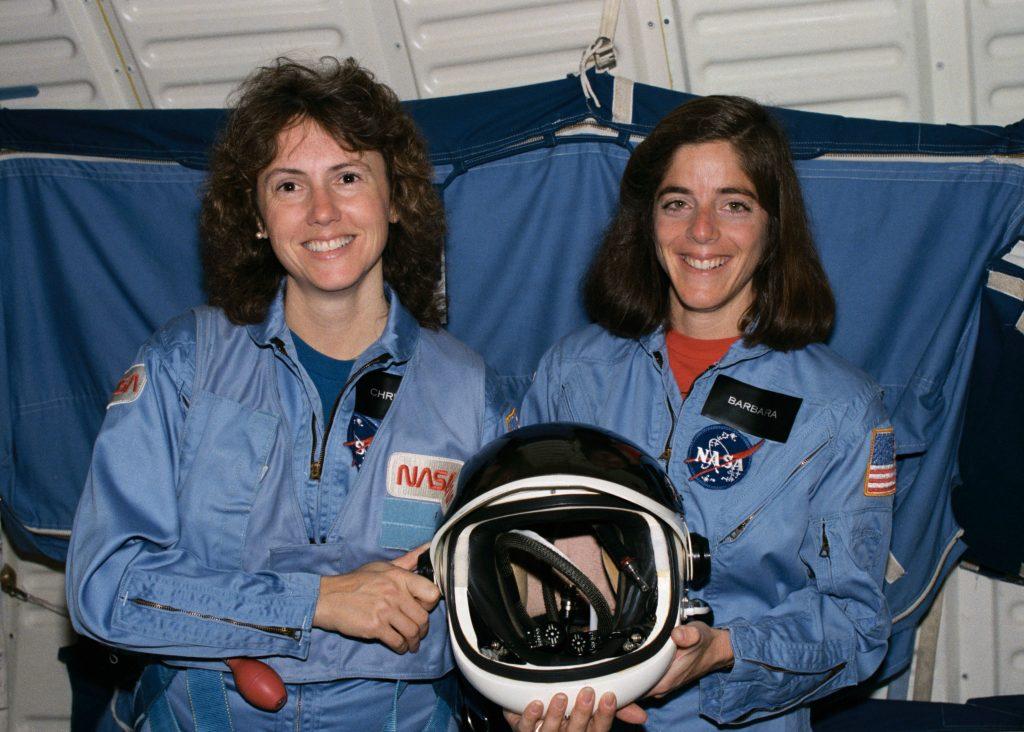 Christa McAuliffe y Barbara Morgan