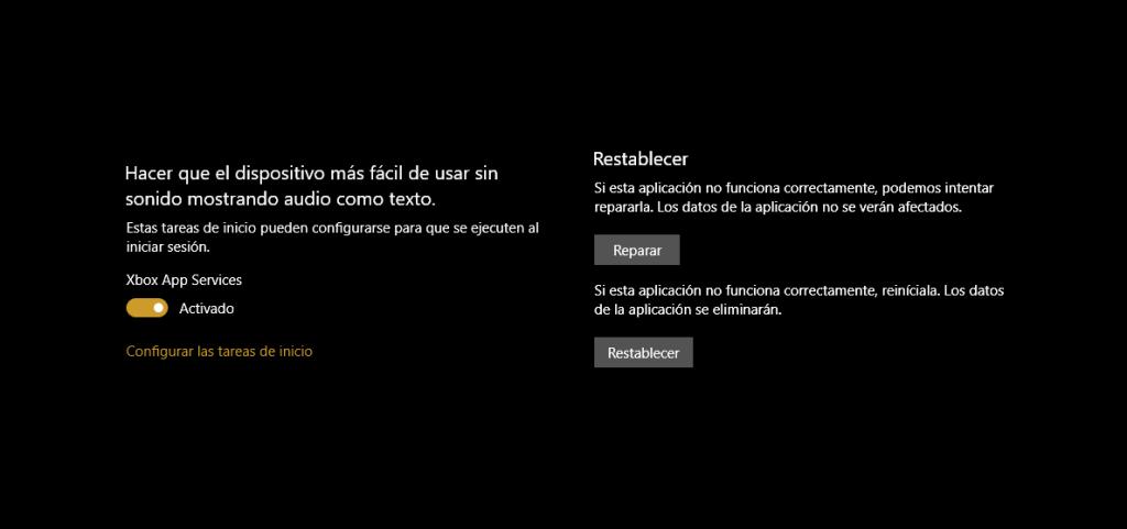 Reparar Xbox App